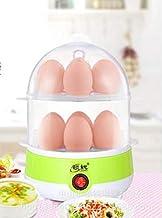 طنجرة بيض من وتترر، 350 وات، جهاز بخار البيض الأبيض، طنجرة طهي البيضة، 7-14 بيضة مع بخار غلق تلقائي، بيضة مزدوجة (أخضر جديد)