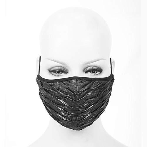 Bosi General Merchandise Mode, Teufel, Dampf, Punk, Black Rivet Dust Mask für Männer und Frauen, PartyRollenspiel, Verstellbarer Ohrbügel, HalloweenMaske