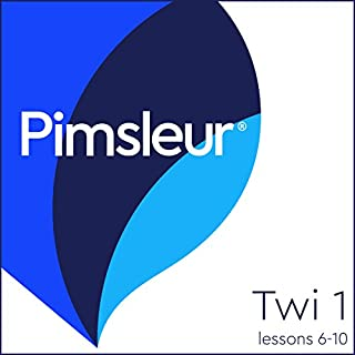 Twi Phase 1, Unit 06-10     Learn to Speak and Understand Twi with Pimsleur Language Programs              By:                                                                                                                                 Pimsleur                               Narrated by:                                                                                                                                 Pimsleur                      Length: 1 hr and 57 mins     1 rating     Overall 2.0