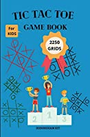 TIC TAC TOE Game Book 2250 GRIDS: TRAVEL SIZE Paper & Pencil Games (5.25 x 8 inches size)