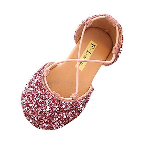 Zapatos de Baile,ZARLLE Zapatos de Vestir para Niñas Primavera Verano 2019 Sandalias Fiesta Boda Lentejuelas Verano Calzado Bebe Primeros Pasos Bailarinas Danza Suela Blanda Princesa