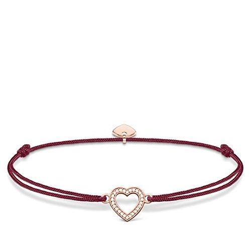 Thomas Sabo Damen-Armband Little Secret Herz 925 Sterling Silber rosé vergoldet Rot LS040-898-10-L20v