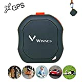 Winnes Mini Portable GPS Tracker, Pet Cats Vehicles Children Elderly Mini GPS Outdoor