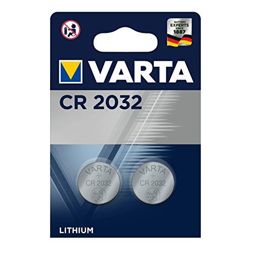 Pila de botón de litio de 3 V VARTA Electronics CR2032, pilas de botón en un blíster original de 2 unidades