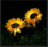 2pcs Solar Sunflower Lights, Gar...