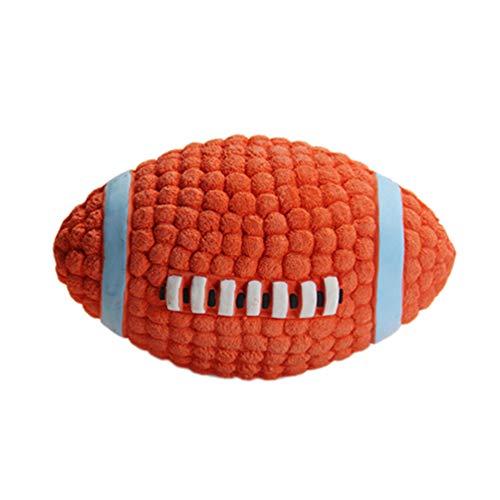 VILLCASE Hund Zahnen Spielzeugball Haustier Hund Kauspielzeug Quietschen Ball Unzerstörbare Hundespielzeug Rugbyball Interaktives Training Kauspielzeug 9 cm für Hündchen