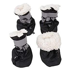 royalwise Dog Booties, Pet Shoes with Anti Slip/Skid Light Soft and Breathable Material and Magic Velcro Strap for Winter