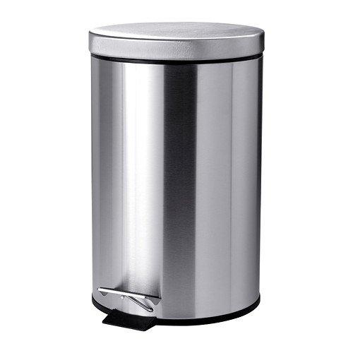 IKEA STRAPATS - cubo de basura con Pedal, de acero inoxidable