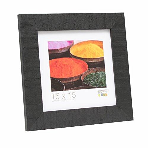 Deknudt Frames Bilderrahmen mit Aufsteller Farbe: Schwarz, Größe (Bild): 30 cm H x 20 cm B