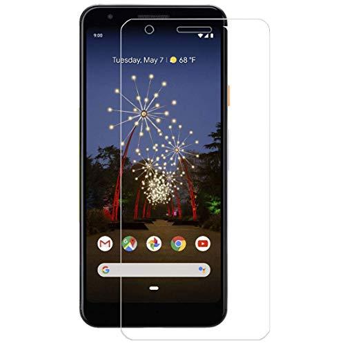 [2 unidades] Protetor de tela para Google Pixel 3a, protetor de tela de vidro temperado para Google Pixel 3a, protetor de tela transparente HD antiarranhões para Google Pixel 3a de 5,6 polegadas