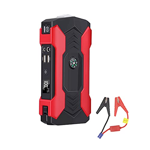 Arrancador De Coche Portátil De 600 A / 10000 MAh (Motor Diésel De hasta 6,0 L / Motor Diésel De 3,0 L) Amplificador De Batería De Iones De Litio De 12 V para Coche, Puerto De Carga USB