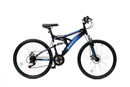 Basis 1 Full Suspension Mountain Bike Disc Brakes 21 Speed Black Blue
