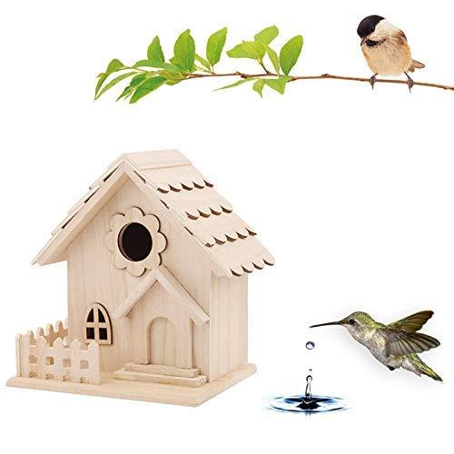 LIIYANN Cage à Oiseaux Tenture Murale en Bois en Plein air nid Maison Maison d'oiseau boîte à Oiseaux Beau Chalet en Bois la Chaleur du Printemps