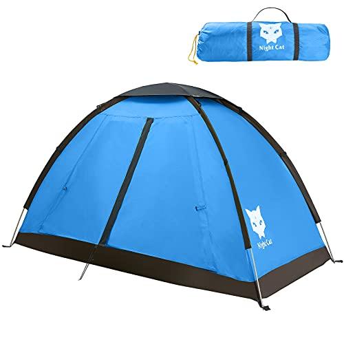 Night Cat Tenda Da Campeggio Per 1 Persona Uomo Tenda da Zaino Impermeabile Facile Installazione Leggera Per Escursionismo Nel Cortile