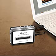 Cassette to MP3 Converter, USB Cassette Player Recorder to MP3 Converter Retro Walkman Audio for PC Laptop Mac with Headphones and Software