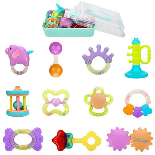 Homejoyi 赤ちゃん 歯がためおもちゃ ガラガラ ラトル ハンドラトル 11PCS ベビー・赤ちゃんのおもちゃ 出...