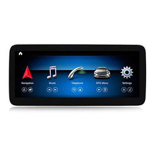 XXRUG Android Car Stereo Sat Nav para Mercedes Benz Clase A W176 2013-2018 Unidad Principal Sistema De Navegación GPS SWC 4G WiFi BT USB Mirror Link Carplay Inalámbrico Incorporado