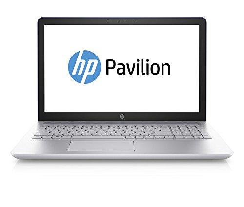 HP Pavilion 15-cc007ng 39,6 cm (15,6 Zoll) Laptop (Intel Core i5-7200U, 8 GB RAM, 256 GB, NVIDIA GeForce 940MX, Windows 10 Home 64) blau/silber