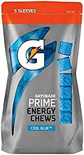 Gatorade Prime Energy Chews COOL BLUE (5-1 oz Sleeves)