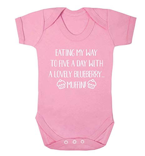 Flox Creative Gilet pour bébé Five a Day Muffin Myrtille - Rose - XS