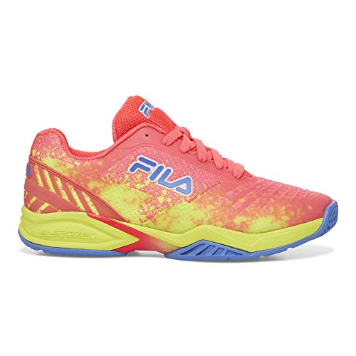 Fila Damen Axilus 2 Energized Tennisschuh, Mehrere (Diva Pink/Safety Yellow/Wedgewood), 41 EU