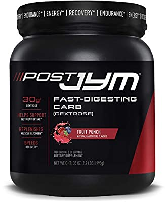JYM Supplement Science, Post JYM Fast-Digesting Carb, Post-Workout Powder, Fruit Punch, 30 Servings, 35 Ounce, 2.2 Pound
