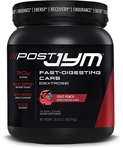 JYM Supplement Science Post FastDigesting Carb PostWorkout Powder 30 Servings, Fruit Punch, Fruit Punch, 35 Ounce