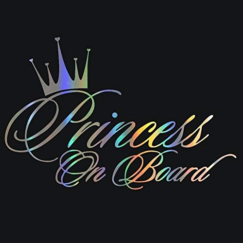 FUNRE Auto-Aufkleber 3D 16.5 * 10.9cm Prinzessin Baby On Board Funny Car Aufkleber Reflektierendes Vinyl-Auto-Dekor (Color Name : RB)
