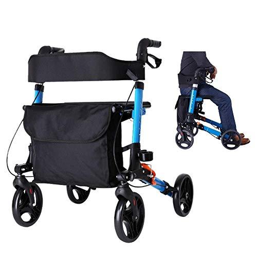 Z-SEAT Senioren Walker für Indoor Outdoor All Terrain, Leichter, höhenverstellbarer Rollator Walker mit Sitz, Last 140 kg (310 lbs)