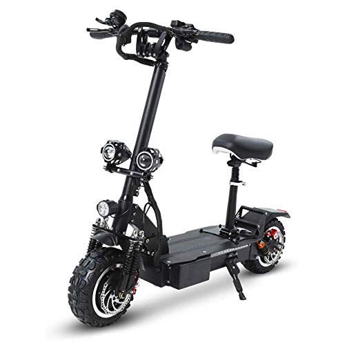 Lilui elektrische scooter, 3200 W, dubbele motor, 11,8 cm, voor vermoeidheid, opvouwbaar, met lithium-accu van 60 V, 26 Ah