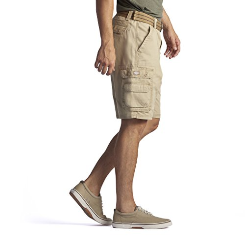 Lee Men's New Belted Wyoming Cargo Short, Buff, 34