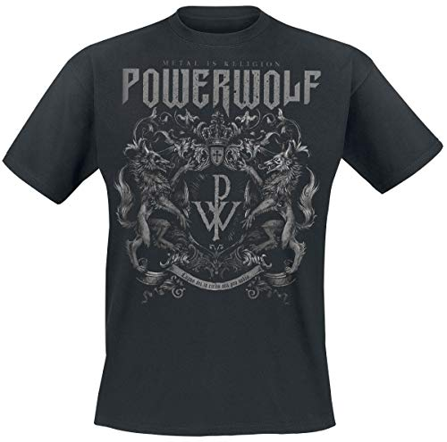 Powerwolf Crest - Metal is Religion Männer T-Shirt schwarz S 100% Baumwolle Band-Merch, Bands