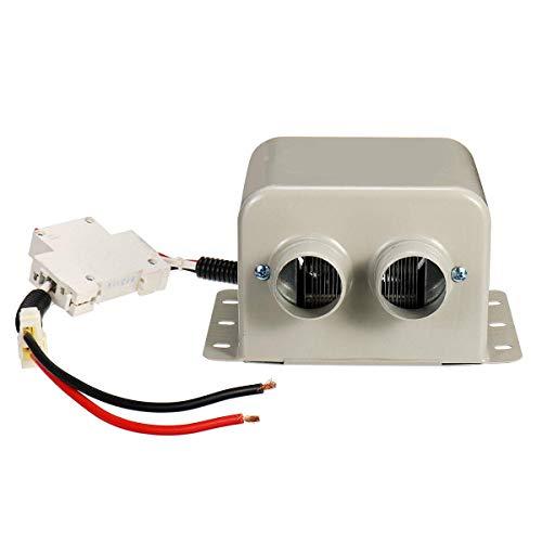 KTZAJO Descongelador de calentador de coche, 24 V 400 W, calentador eléctrico para coche con 2 salidas de aire en la mayoría de los 80 °C