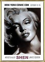 ポスター シェン マリリン シルバー 額装品 アルミ製ベーシックフレーム(ゴールド)