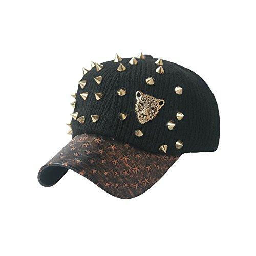 Corduroy Mode de baseball réglable Cap d'hiver Chapeau chaud avec Fluff Ball, Gris