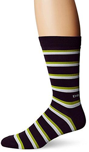Diesel Men's Ray Socks Stripe, Midnight/Blue, Sock Size:10-13/Shoe Size: 6-12