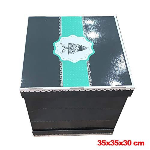 Caja de cartón Grande para Tartas, 35 x 35 x 30 cm: Amazon.es: Hogar