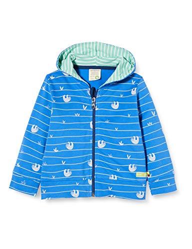 loud + proud Jungen Jacket Allover Print Organic Cotton Jacke, Blau (Cobalt Cob), (Herstellergröße: 86/92)
