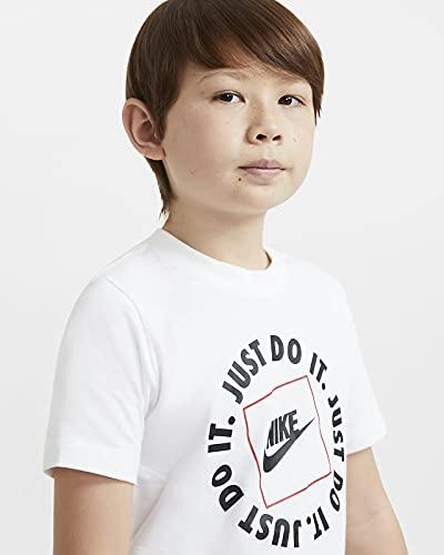 NIKE JDI Box, Camiseta Niños Unisex, White, XS