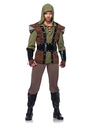 Leg Avenue 85268 - Robin Hood Kostüm Set, 5-teilig, Größe XL, braun