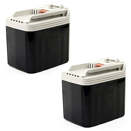 CELLONIC 2X Batería Premium 24V, 3.3Ah, NiMH Compatible con Makita BMR100, BHR 200, BDF 460, BLS712, BLS820, BLS820 bateria de Repuesto BH2433, 2430, BH2420, 193736-9, 193737-7, 193739-3 Pila