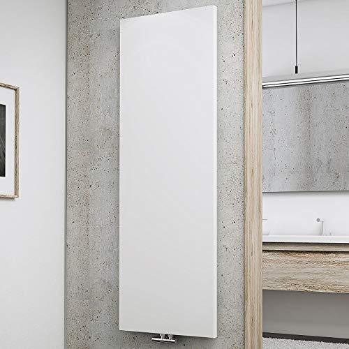 Schulte Design-Heizkörper New York, 180 x 60 cm, 1070 Watt Leistung, Mittelanschluss, alpin-weiß, Wohnraum-Heizkörper für Zweirohr-Systeme