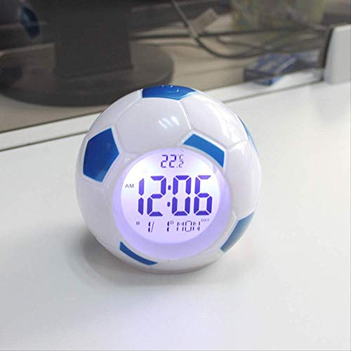 yywl Alarm Klok Europa Stijl Plastic Led Voetbal Alarm Klokken Met Backlight Tijd Kalenders Backlight Digitale Klok Moderne Snooze Functie