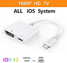 [Apple MFi Certified] Lightning to HDMI Adapter,1080P 2 in 1 Digital AV Adapter to HDTV Projector Monitor,HDMI Sync Screen Connector with Charging Port Adapter for Select iPhone iPad and iPod Models
