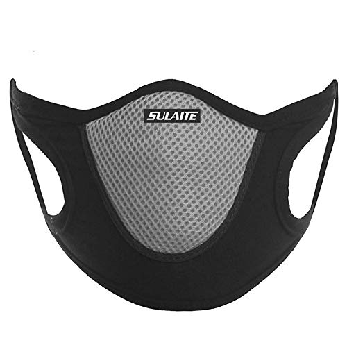 SULAITE Outdoor Sports Riding Running Activated Carbon Dustproof AntiFog AntiSand Breathable Comfortable Mask Heath Care Grey