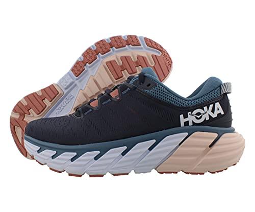 HOKA one one Femme Gaviota 3 Textile Ombre Blue Rosette Formateurs 38 EU