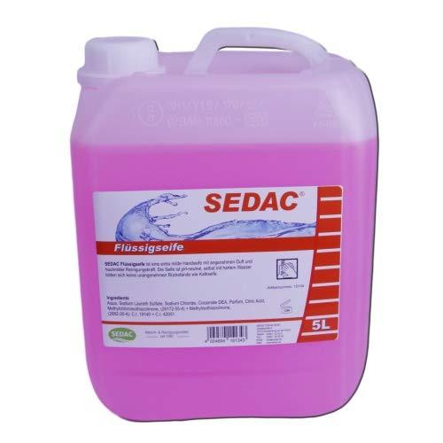 SEDAC Flüssigseife 5L Nachfüll-Kanister | Handseife zum täglichen händewaschen, ideal für Spendersysteme und Seifenspender