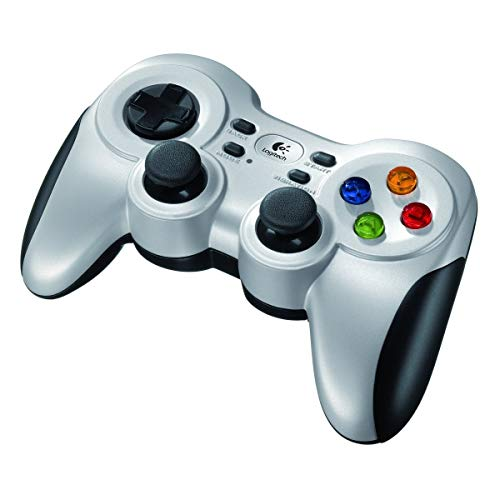 Logitech F710 PC-Gamepad Schwarz, Silber - Spiele-Controller (Gamepad, PC, D-pad, Auswählen, Start, Vibration Ein / Aus, Kabellos, RF, Nano)