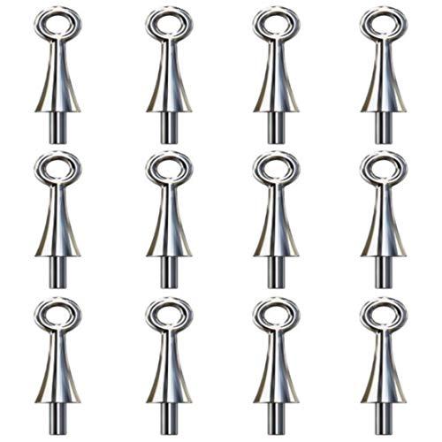 My-Bead 12 Piezas Trabillas para Colgante 12mm Perno Ø 1mm Plata de Ley 925 Pinzas Pendientes para Collares DIY