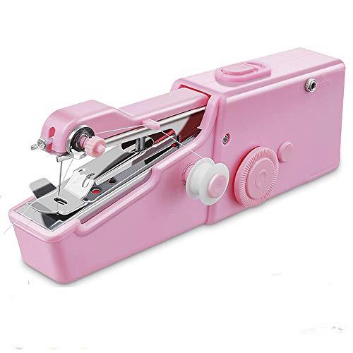 SUBOSI Máquina de coser de mano para casa, mini máquina de coser portátil, máquina de coser eléctrica de mano, puntada rápida y práctica para ropa, bricolaje, cortinas, hogar y uso de viaje